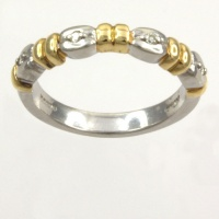 Platinum Diamond half eternity Ring size M
