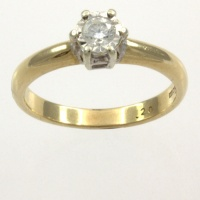 9ct gold Diamond Single stone Ring size I