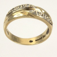 9ct gold Diamond half eternity Ring size M½