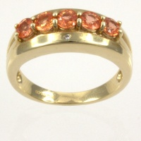 9ct gold Real Stones 5 stone Ring size N