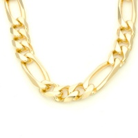 9ct gold 22 inch / 56 cm figaro Chain